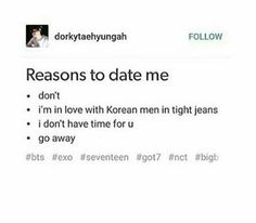 well i'd like a boyfriend, but this is an excellent excuse for why i don't have one XD
