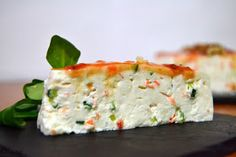 Salty Philadelphia Cheesecake and Vegetables - Antojos - Pastel Salados Easy Cooking, Cooking Time, Food N, Food And Drink, Tapas, Sweet Recipes, Healthy Recipes, Food Goals, Food Dishes