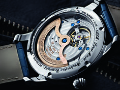 Frederique Constant Worldtimer- back view. Just beautiful.... I do wonder about the pendulum though, if it has enough mass to effectively wind. They know waaaaay more about watchmaking than I do though, I am sure they have worked out any issues like that.