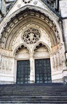 I want to be married somewhere beautiful. A church...eh maybe the doors at St. John the Divine Cathedral in NYC caught my eye(: