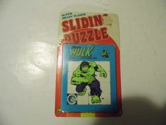 1978 Marvel Comics INCREDIBLE HULK Sliding Puzzle vintage 70s unused toy mip APC in Collectibles, Comics, Other Comic Collectibles | eBay