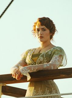 Green Titanic / Edwardian Gown View 1. - Wonderful job on the jewelry, hair, and this dress!!!