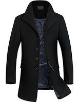 Match Men's Classic Single Breasted Trench Coat #WB-1688