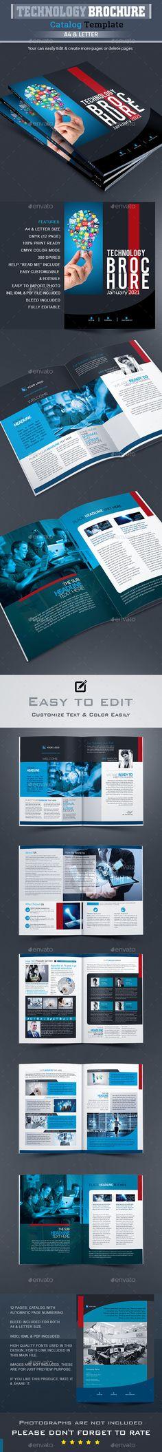Creative Agency - A4 Portfolio Brochure Creative and Brochures - technology brochure template