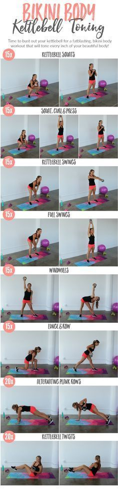 Tone every inch with this fat-curning Bikini Body Kettlebell Toning Workout!