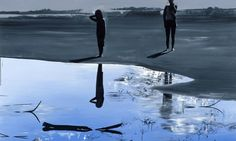 Wilhelm Sasnal, Untitled (Kacper and Anka), 2009, Oil on canvas, 180 x 220cm
