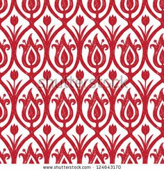 Red hand-drawn seamless ornament by Bananafish, via Shutterstock