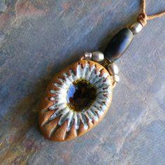sunburst pendant by leibenaller on Etsy