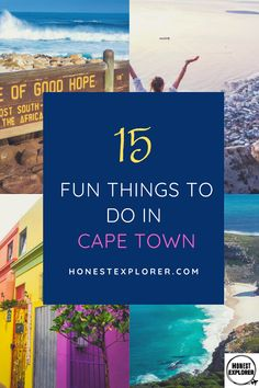 15 fun things to do in Cape Town! The city dominated by the stunning table mountain, Cape Town is worth exporing, from beautiful gardens to hiking trails. Travel Advice, Travel Tips, Travel Destinations, Stuff To Do, Things To Do, Explore Travel, Travel Information, Africa Travel, Solo Travel