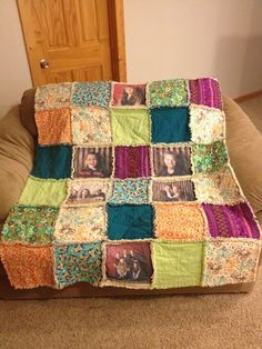 Yes, there are actual pictures printed on fabric then used to make this basic quilt. A thoughtful gift that means the recipient can snuggle up with their loved ones any time they want.