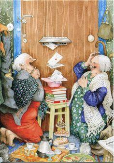 Inge Look Postkaarten 23 Old Women, Getting Old, Illustrators, Cool Art, Illustration Art, Art Illustrations, Old Things, Artsy, Humor