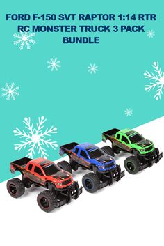 LAST GIVEAWAY OF CYBER WEEK: Today we've got an awesome Ford F-150 SVT Raptor 1:14 RTR RC Monster Truck 3 Pack Bundle!! To enter our contest, like, comment, and share this post. For more chances to enter, find and share our contest photos on Instagram, Twitter, Facebook, and Google +. Good luck to everyone!  All contests this week will end TODAY at 4:30 PM PST.  #HobbyTron