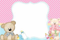 Photo Frame Design, Unisex Baby Shower, Text Frame, Baby Shower Invitaciones, Christening Invitations, Baby Album, Girl Nursery, Hello Kitty, Diy And Crafts