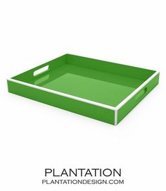 Lacquer Tray | Kelly Green - set on coffee table
