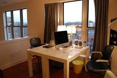Ideal two-person workspace (assuming you like each other!)