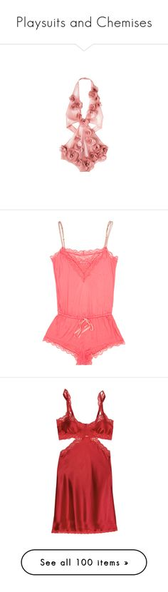"""""""Playsuits and Chemises"""" by youmaycallmejuju ❤ liked on Polyvore featuring swimwear, one-piece swimsuits, lingerie, underwear, swimsuits, bathing suits, swimming costumes, swim suits, sonia rykiel and swimsuit swimwear"""