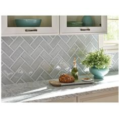 subway tile kitchen backsplash Collection-MS International Morning Fog 3 in x 6 in Handcrafted Glazed Ceramic Wall Tile from Subway Tile Kitchen Backsplash Gallery. Taken from Tile category. Gray Kitchen Backsplash, Glass Subway Tile Backsplash, Ceramic Subway Tile, Subway Tile Kitchen, Backsplash Design, Glass Tile Kitchen Backsplash, Kitchen Backsplash White Cabinets, Subway Tile Bathrooms, Kitchen Wall Tiles Design