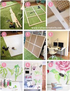 How I built and painted my pegboard - by Craft & Creativity - great tutorial & in 2 languages - very nicely done! Great inspiration!