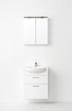 Valkoinen IDO Renova Plus -kokonaisuus sopii erinomaisesti vaikkapa vieras wc:n sisustukseen.