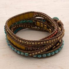 Multicolor Fiesta Multicolor Wrap Bracelet from Artisan Crafted Beaded Jewelry