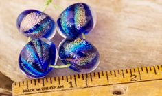Set of 4 Dichroic Beads Premium Color Dichroic by BlueSkyBeadsinc, $20.00