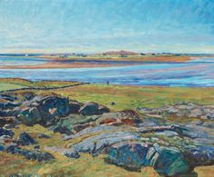 Nils Kreuger (1858–1930): Getterön vid Varberg (Landscape from Varberg)
