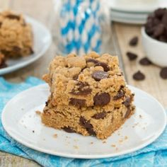 Browned Butter Salted Chocolate Chip Cookie Bars...thick, chewy and loaded with gooey chocolate chips!
