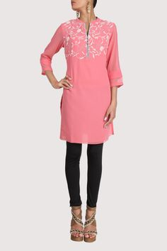 Pink tunic. Shop Now: www.karmik.in/shopping/index.php