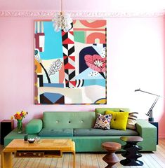 Art We Love: Design Inspiration: The Eternal Appeal of Eames Painting Inspiration, Interior Inspiration, Design Inspiration, Deco Rose, Room Decor, Wall Decor, The Design Files, Living Room Art, House Painting