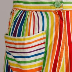 88a5465835 Betsey Johnson for Alley Cat Vintage Rainbow Striped Palazzo Pants