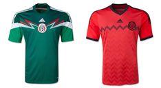 Camisa de la Copa Mundial 2014 de México