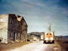 Gothic Line WWII. The Futa Pass with three Red Cross Ambulances going towards the front. Pin by Paolo Marzioli