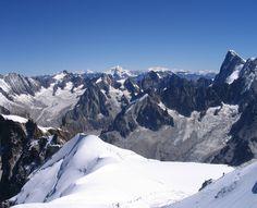 panorama z Mont Blanc
