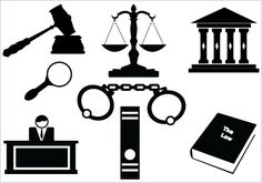 Law and Order Lawyer Attorney Elements - silhouettevector.net
