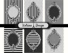 Vintage Antique Frames ATC images 2.5 x 3.5 by KetrinaDesign