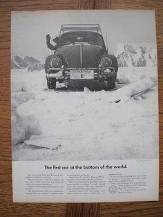 Volkswagen Beetle in Antarctica! This Bug went on to win the Redex rally across West Australia.
