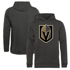 Vegas Golden Knights Fanatics Branded Youth Primary Logo Pullover Hoodie - Heather Gray - $49.99