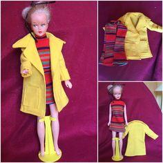 ✿ tenue CAROLE 1974 robe & manteau poupée TRESSY bella VINTAGE