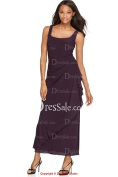 Remarkable Chiffon Dress with Side Slit for Mother of the Bride