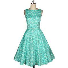 Vintage Slash Neck Floral Print Ruffles Sleeveless Women's DressVintage Dresses | RoseGal.com