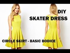 DIY | HOW TO MAKE A SKATER DRESS (CIRCLE SKIRT) - YouTube  Tutorial on how to make a pattern for a bodice!!!!