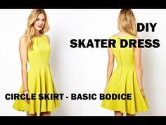 DIY | HOW TO MAKE A SKATER DRESS (CIRCLE SKIRT) - YouTube