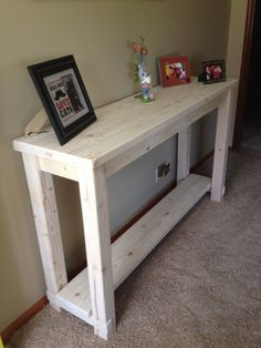 Console Table or Sofa Table with bottom shelf. Modern Country Concepts