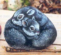 Animals Painted on Rocks - Rock Pets