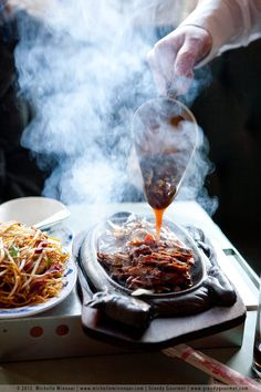 Sizzling Duck with King Po Sauce:LONDON
