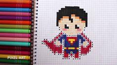 Pixel art : Comment dessiner SUPERMAN - DESSIN FACILE