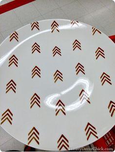 arrow platter do it yourself stencil