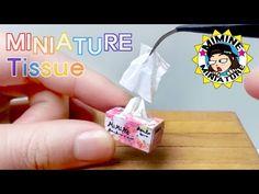 미니어쳐 각티슈 만들기 (쏙~ 쏙~!) Miniature - facial tissue / 미미네 미니어쳐 - YouTube