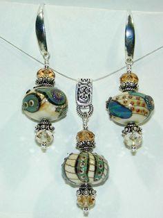 JBB Organic Silver Ivory Artisan Bead by JensenBeachJewelry, $82.00