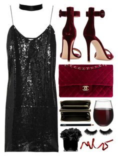 """""""Seduce him...Cut his heart out and put it in his hands"""" by ruska-10 ❤ liked on Polyvore featuring TIBI, Gianvito Rossi, Crate and Barrel, Chanel, Comme des Garçons, NARS Cosmetics and Hervé Gambs"""